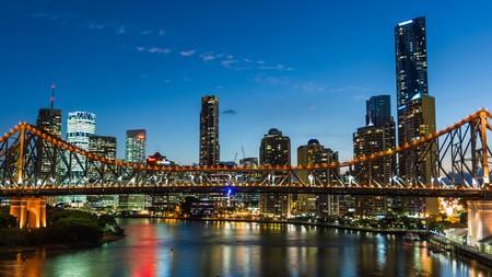 skyline of Brisbane at night