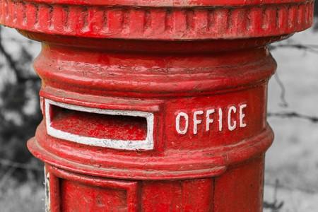tetbury: uk old style postbox