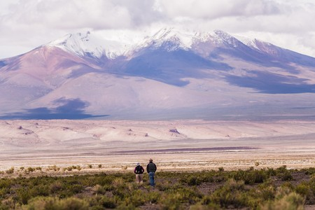 lost lake: incredible scenery when touring south-western Bolivia Stock Photo