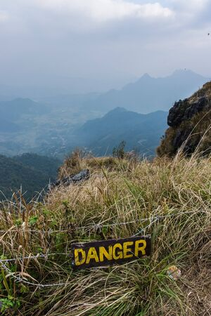 steep cliffs sign: exploring the chiang rai region in northern thailand
