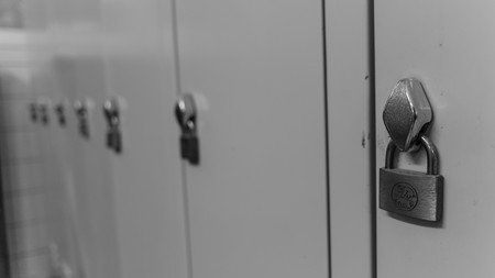 lockers: Lockers in a run down dressing room