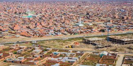 la paz: view over the city of la paz in bolivia