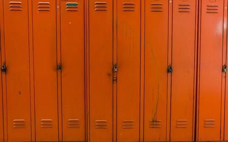 run down: Lockers in a run down dressing room