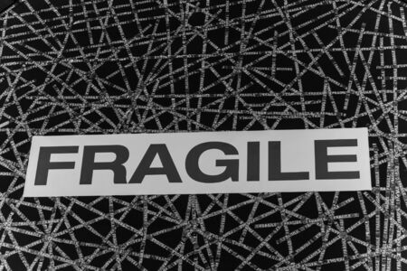 fragility: sign indicating fragility of an object