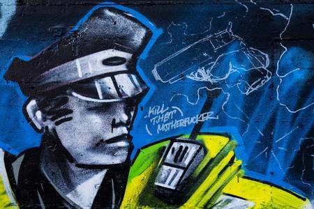 powerless: Street art at the Teufelsberg Site in Berlin