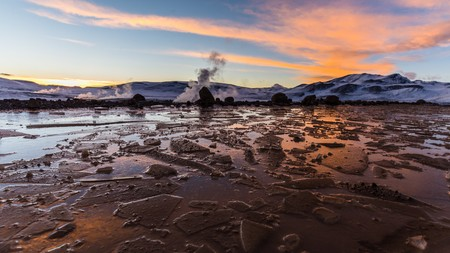 altiplano: Ice on the Bolivian altiplano