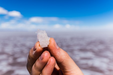 salt water: exploring the southern part of bolivia Stock Photo