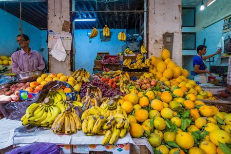 fes: fes, Morocco - Circa September 2015 - local market in fes Editorial