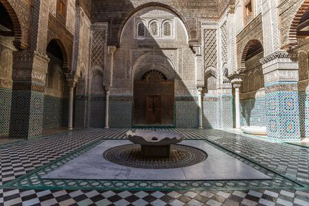 fes: the attarine medersa in fes Stock Photo