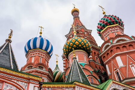 basils: moscow, Russia circa May 2015: st basils cathedral in moscow