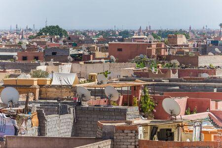 medina: view over marrakechs medina Stock Photo