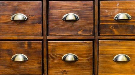 apothecary: Close-up of a really old apothecary cabinet