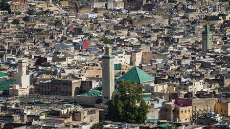 medina: view over the medina of fes Stock Photo