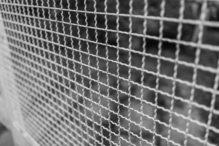 tiefe: ein Zaun mit einem flachen Fokus Tiefe