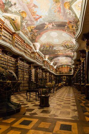 Prague, czech - circa november 2015 - inside the klementinum in prague