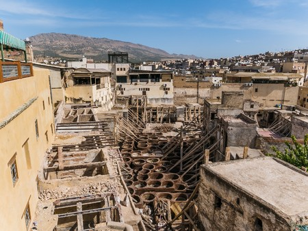 fes: the famous tannery in fes