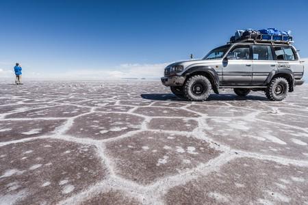 borax: Uyuni Salt Flats, bolivia - circa march 2015 - visiting the awesome salt flats of uyuni
