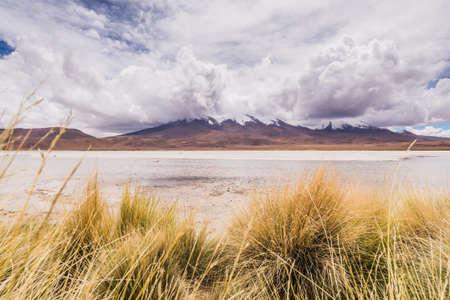 san pedro: lagoon in the altiplano of bolivi Stock Photo