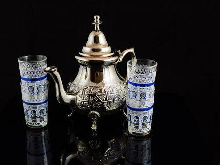 tea service: tea service in moroccan style Stock Photo
