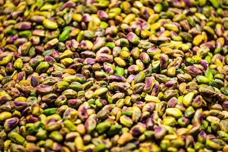 sélective plan de mise au point de pistaches