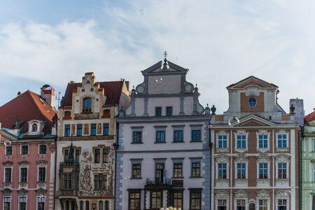 tynsky church: Old houses of Prague