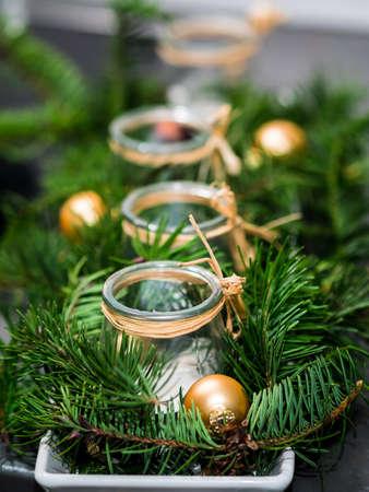 advent wreath: self made advent wreath