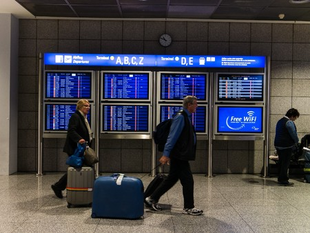 departures: Frankfurt, Germany - February 27, 2016 - departures at the frankfurt airport