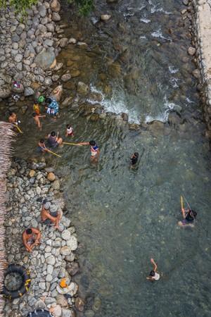 sumatra: bukit Lawang, Indonesia - Circa June 2014 - village life in sumatra