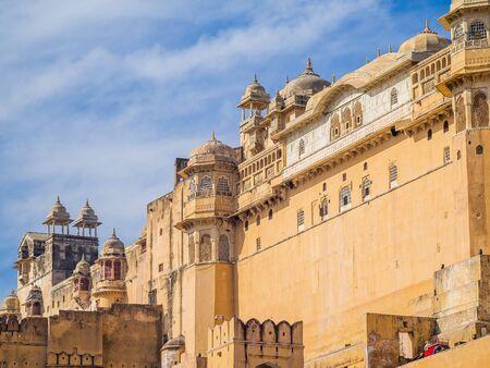 amber fort: jaipur, india - december 29, 2015 - the amber fort