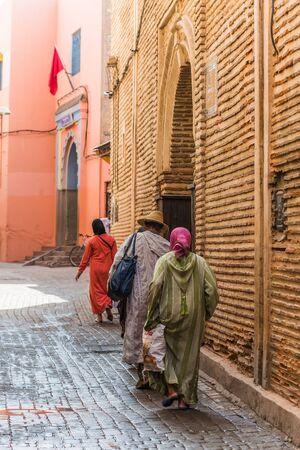 marrakesh: Marrakesh, Morocco - Circa September 2015 - Street scene in Marrakesh Editorial