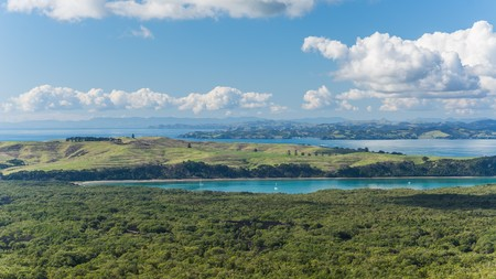 faraway: View from Rangitoto Island in New Zealand