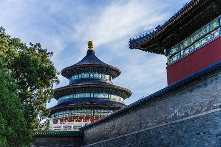 temple of heaven: the temple of heaven in Beijing Stock Photo