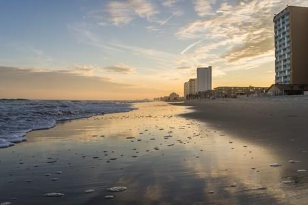 myrtle beach: Sunset in Myrtle Beach Stock Photo