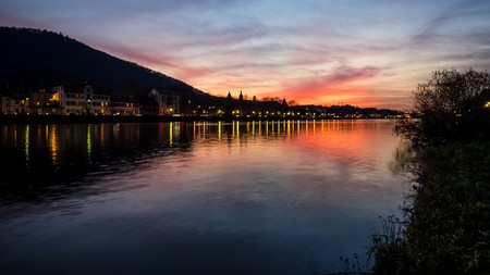 heidelberg: Sunset in heidelberg