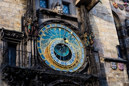 astronomical: Prague Astronomical Clock (Orloj) in the Old Town of Prague
