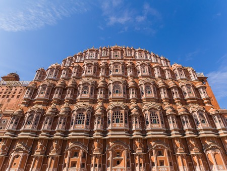 jaipur: palace of the Winds in Jaipur Editorial