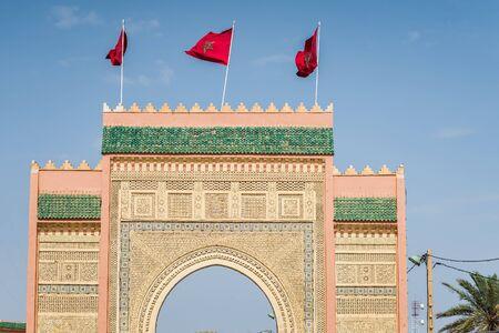 merzouga: gate to the desert near merzouga Stock Photo