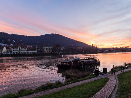 heidelberg, germany - december 5, 2015 - Sunset in heidelberg