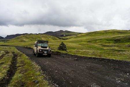 N208, Iceland - Defender Jeep in the highlands of iceland