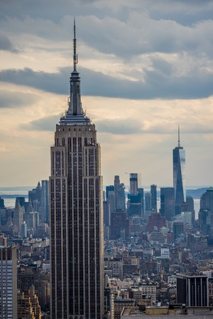 new York, USA - Circa March 2016 - view over new york