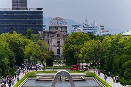 atomic bomb: Memorial Park in Hiroshima, Japan