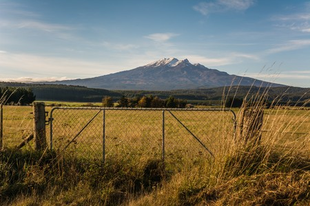 Mount Doom in the sun Stock Photo