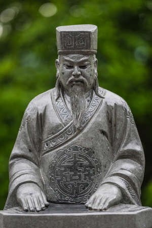 Tenthousand buddhas monastery in Hong Kong Stock Photo