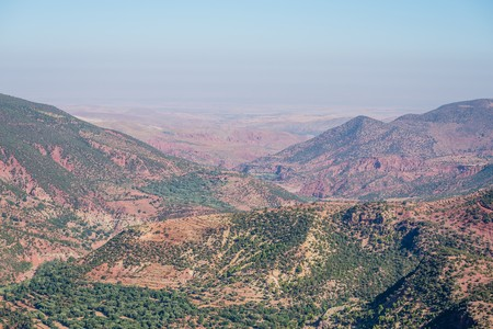 view in the high atlas mountains of Morocco