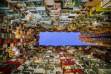 overcrowded: houses of hong kong Stock Photo