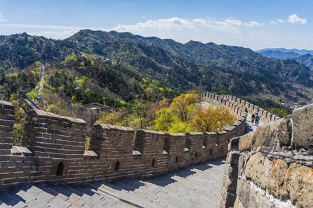 mutianyu: Walking on the great wall near Beijing, China
