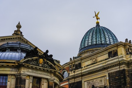 architecture in Dresden Stock Photo