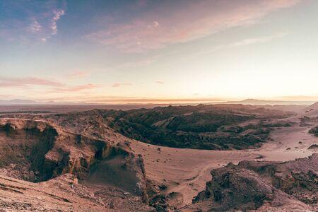 Exploring the valle de la luna Stock Photo