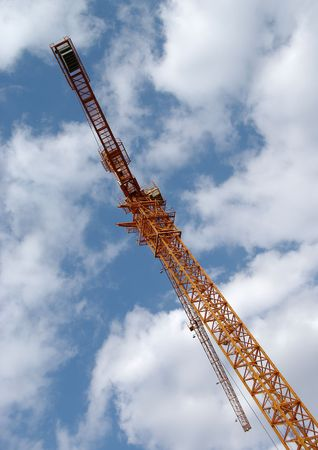 Tower crane in the clouds Stock Photo - 3106763