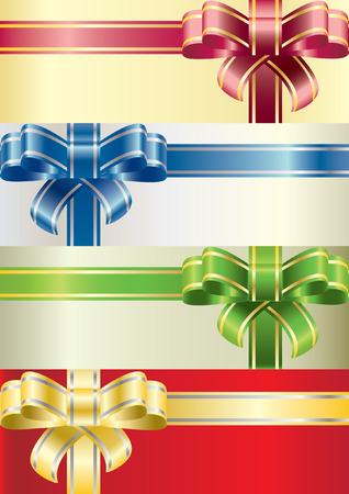 A set of beautiful attractive coloured bows for your use and needs Vector